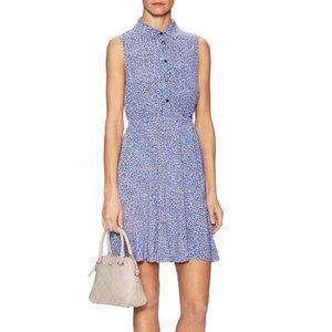 Kate Spade Petals Print Sleeveless Shirtdress M